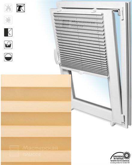 штора плиссе АИДА ПЕРЛ на пластиковые окна - фото 5700
