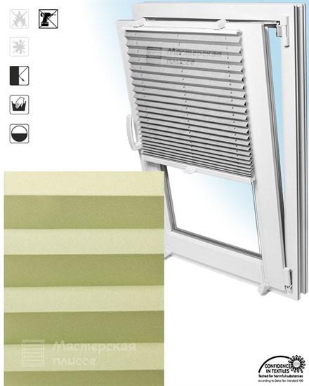 штора плиссе БАЗЕЛЬ ПЕРЛ на пластиковые окна - фото 5961