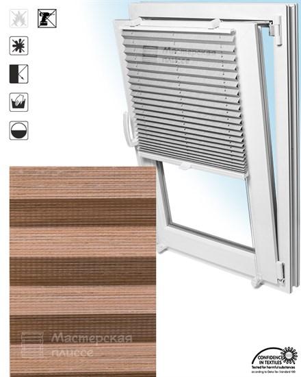 штора плиссе ГАРДА ПЕРЛ на пластиковые окна - фото 5984