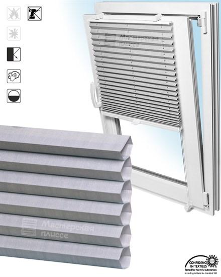 штора плиссе ГОФРЕ КАПРИ на пластиковые окна - фото 5990