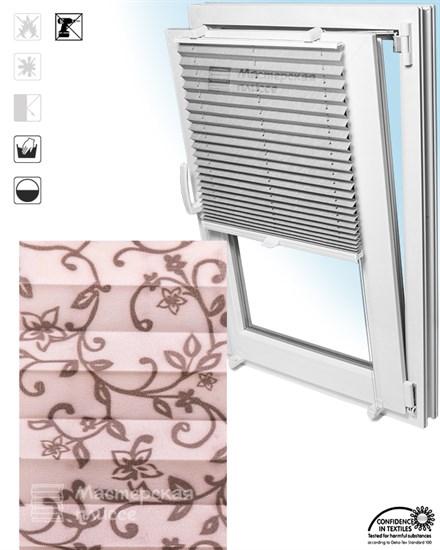 штора плиссе ДЖЕЛА на пластиковые окна - фото 6131
