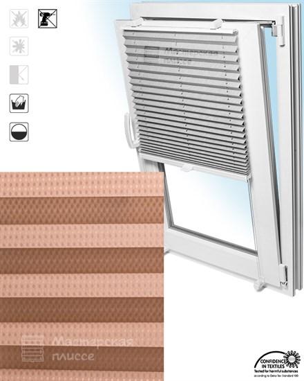 штора плиссе КОРОНА на пластиковые окна - фото 6138