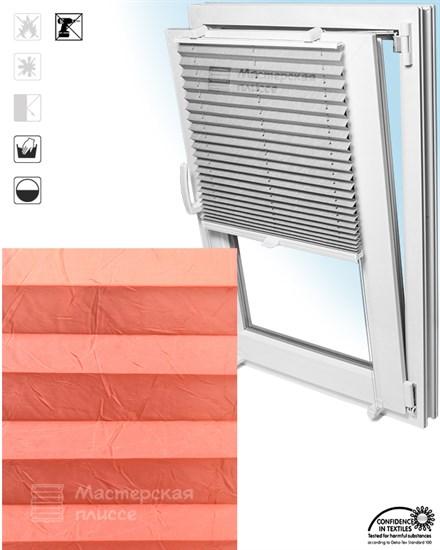штора плиссе КРАШ на пластиковые окна - фото 6143