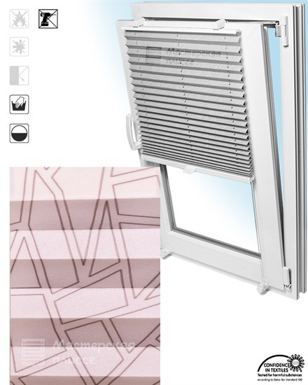 штора плиссе САЛЬВА на пластиковые окна - фото 6229