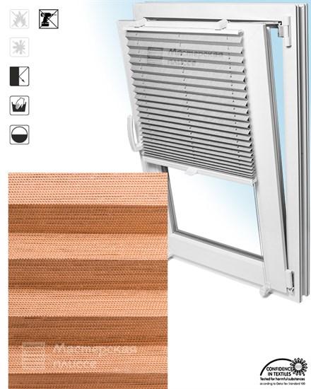 штора плиссе СКИО ПЕРЛ на пластиковые окна - фото 6245