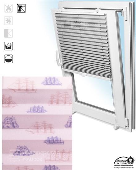 штора плиссе ТОГО ШИПС на пластиковые окна - фото 6267