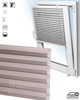 штора плиссе ГОФРЕ ПАЛЬМА на пластиковые окна