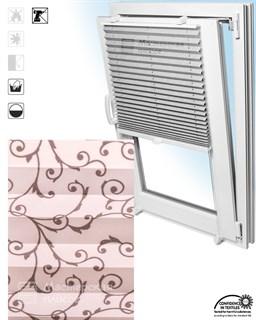 штора плиссе ДОРИО на пластиковые окна