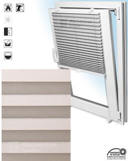 штора плиссе КОМО на пластиковые окна